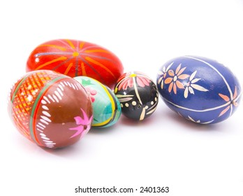 traditional easter decoration - painted eggs