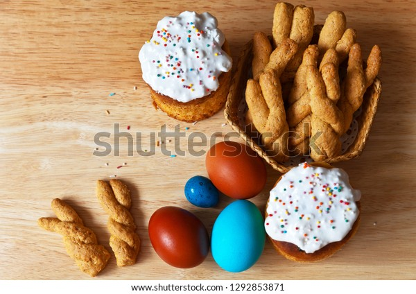 Traditional Easter Treats Homemade Cookies Shape Stock Photo Edit