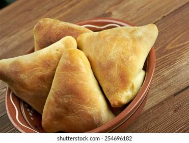 traditional eastern food samsa - Uzbek cuisine