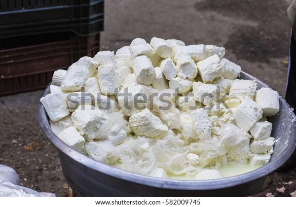 traditional egyptian arabian Feta white Cheese