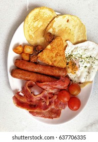 traditional English breakfast ready to be eaten
