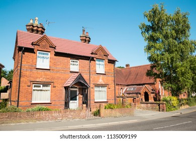 Traditional English Brick architecture - buildings and chimney in Essex