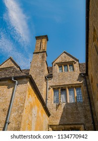 a traditional english cotswold village with old houses - snowshill gloucestershire
