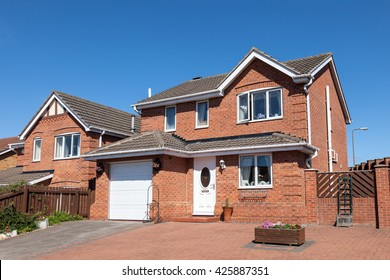 Traditional english detached house view