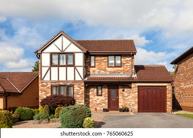 Traditional english house with garage