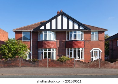 Traditional english semi-detached house