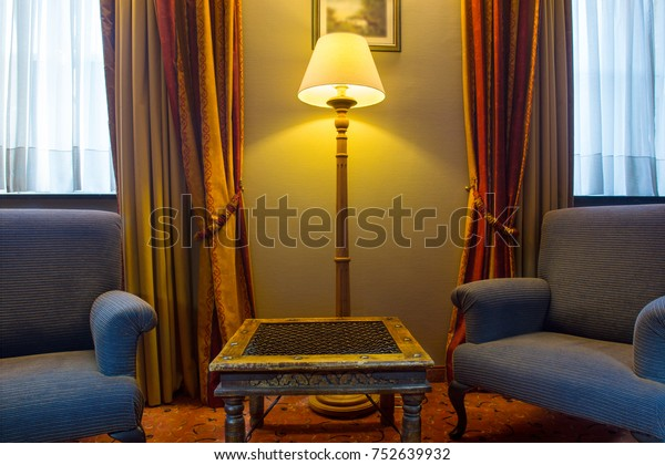 Traditional European Style Room Chairs Side Stock Photo ...
