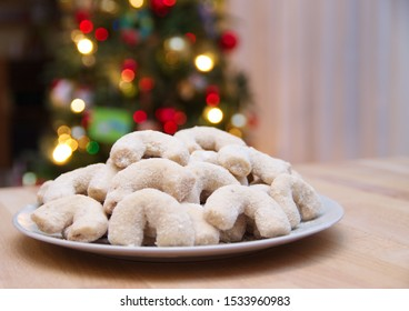 Traditional European Vanilla Crescents, Christmas Cookies