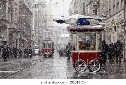 Traditional fast food of Istanbul on Beyoglu - Shutterstock ID 131816714