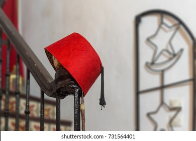 Traditional fez or tarboosh hat of Morocco