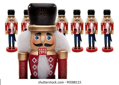 Traditional Figurine Christmas Nutcracker General With His Army Of Nutcracker Soldiers