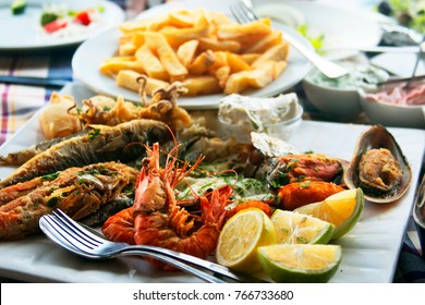 Traditional fish meze