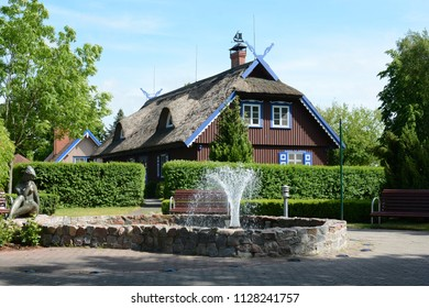 Traditional fisherman's house in Nida town, Lithuania