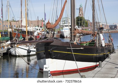 Traditional fishing boat in the harbor of Bremerhaven, Germany