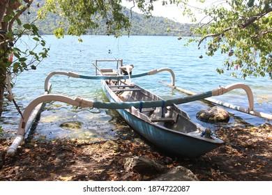 traditional fishing boat on the island of satonda