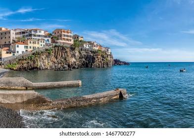 Traditional fishing village Câmara de Lobos On A Sunny Day, Madeira, Portugal, Europe