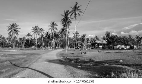 traditional fishing village. Kampun Mangkuk, Terengganu, Malaysia.