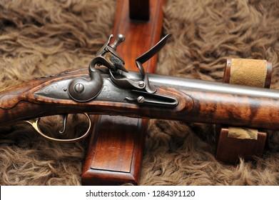 Traditional flintlock rifle
