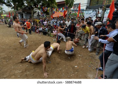 Traditional folk festivals at Linh Nam - Hanoi - Vietnam on February 2, 2017. During the spring (January to March on lunar calendar) has many traditional festivals held in the regions.
