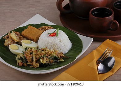 traditional food indonesia, pecel rice