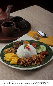 traditional food indonesia. rice mixed bali