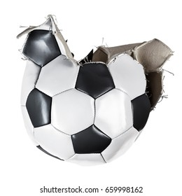 traditional football split it sides open blown up