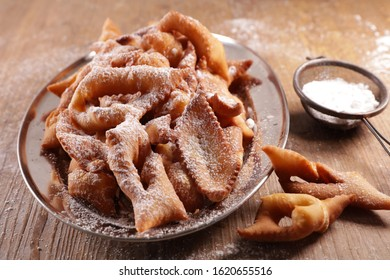 traditional french biscuit for carnival, donut- bugne