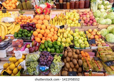 Traditional fruits and vegetables market.
