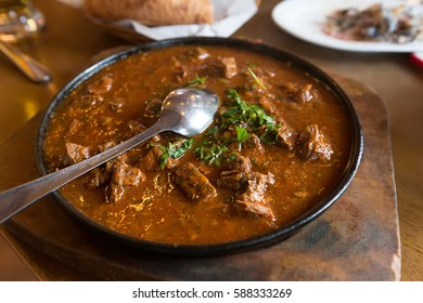 traditional Georgian dish of spicy stewed meat with sauce