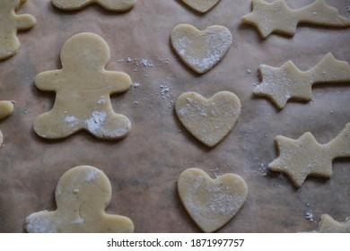 Traditional German Christmas cookies baking