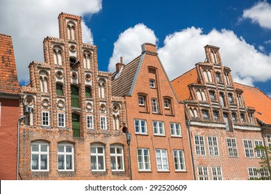 Traditional german houses in Luneburg.