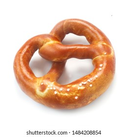 Traditional German Pretzel Isolated On White