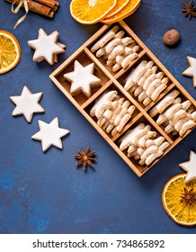 Traditional German Star Cookies in a gift box