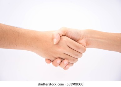 a traditional gesture of shaking hands