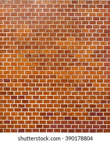 Traditional glazed brick wall of building. For background, texture, exterior and interior decoration.