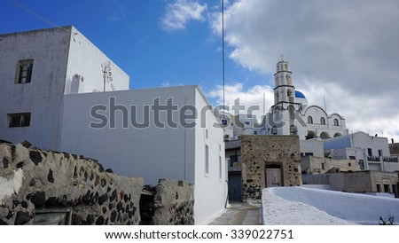 traditional greece church in