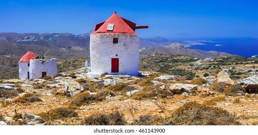 Traditional Greece - Windmills of Amorgos island