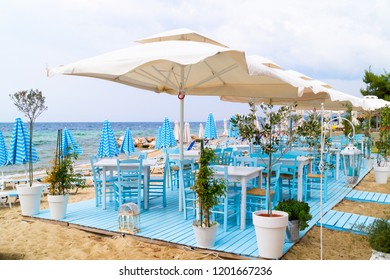 Traditional Greek cafeteria at the beach, Greece