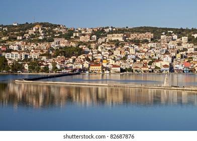 Traditional greek city of Argostoli at Kefalonia island in Greece
