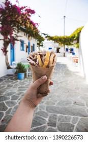 Traditional greek gyros.