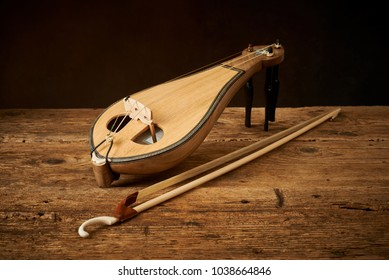 Traditional Greek instrument politiki lyra or classical kemence