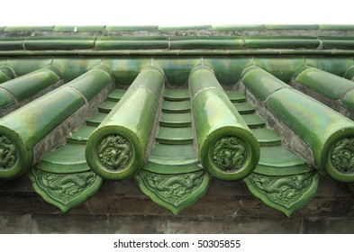 Traditional green Chinese tiles, Temple of Heaven, Beijing.