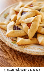 Traditional Hamantaschen cookies for Jewish festival of Purim