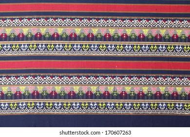 Traditional hand made original silk pattern of Thailand