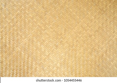 Traditional handcraft weave Thai style pattern nature background texture wicker surface for furniture material
