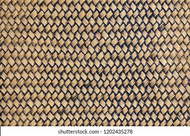 Traditional handicraft bamboo weave pattern nature background