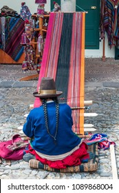 Traditional handmade alpaca wool  production in Cuzco, the Sacred Valley of the Incas, Peru, South America