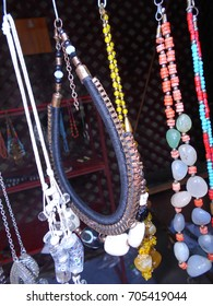 Traditional handmade jewellery at Crafts museum.