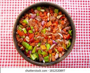 伝統的なハタイ料理「ベレンパンケバブ」