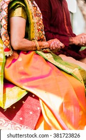 Traditional Hindu henna -painted hands
